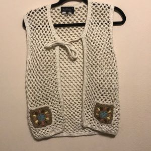 Beautiful hand crochet vest. Size M